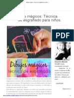 Dibujos Mágicos_ Técnica de Esgrafiado Para Niños