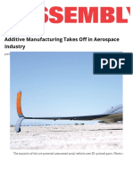 Additive Manufacturing Takes Off in Aerospace Industry _ 2016-01-04 _ Assembly Magazine