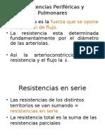 Resistencias Periféricas y Pulmonares