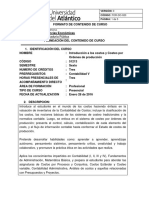 Carta Descriptiva Costos