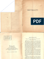 Neutrality by the Watchtower BIble and Tract Society, 1939
