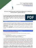 Manuale Operativo Referendum Acqua Pubblica e Allegati