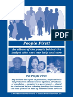 People First! An album of the people behind the budget who need our help and care