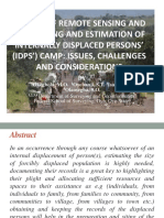 Application of Remote sensing and GIS in siting IDPS' Camp