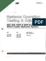 Cargador 920 & 930 Sistema Hidraulico