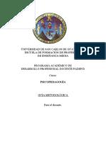 Guía metodológica Psicopedagogía U