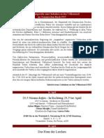 Veranstaltungsreihe Zum 24 April