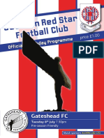 Seaham Red Star v Gateshead programme