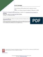 Les facteurs de l´elimination et de la sélection différentielles dans les études de sciences