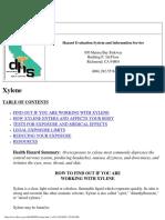 Xylene information sheet