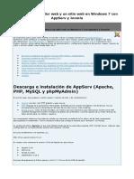 4.2. Montar Un Servidor Web y Un Sitio Web en Windows 7 Con AppServ y Joomla