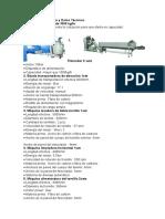 Lista de Equipamiento y Datos Técnicos