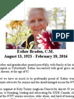 Esther Braden Announcement Feb 18 2016