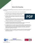 Lit Natural Gas Sampling 6-15