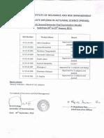 PGDAS Second SemesterRe-sit Examination Results