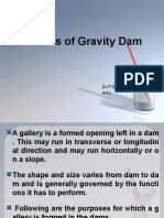 Galleries of Gravity Dam