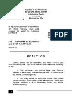 Affidavit of guardianship sample petition for adoption yadclub Images