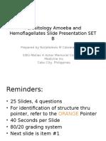 Parasitology Slide Presentation SET B