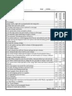 skills checklist-updated