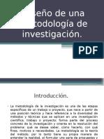 Diseño de una metodología de investigación