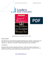 Developing the Leader Within You Final