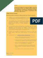 Código de Ética Política Rigger Crane Peru