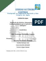 PROTOCOLO COLIFORMES TOTALES Y FECALES