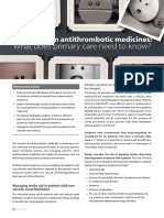 An Update on Antithrombotic Medicines- What Does Primary Care Need to Know