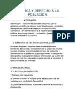 Politica y Derecho a La Población