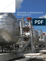 Reliability and Maintenance Management