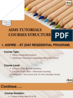 AIMS Tutorials Course Structure