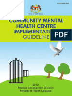 CMHC Implement Guideline 2013 Psych Services Malasia