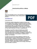 Nacif Benito, Modelo de Comunicación Política a Debate, 2 Julio 2015
