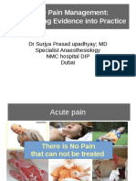 ACute Pain Management; Transforming evidence into practice