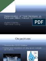 Experiment 4 Determination of Total Hardness as Ppm Calcium Carbonate
