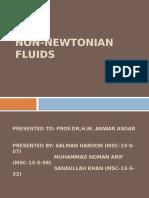 Transport Phenomena Presentation on Non-newtonian Fluids