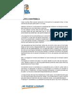 República de Guatemala - Partido Patriota - Plan de Gobierno - 2012 a 2015