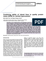 Combining ability of inbred lines in quality protein maize (QPM) for varietal improvement