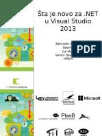 Šta Je Novo Za NET u Visual Studio 2013