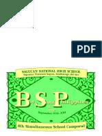 Bsp Program of Activities