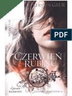 Kerstin Gier - Trylogia Czasu 1 - Czerwień Rubinu