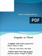 Rules for Making Plurals