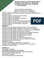 Grupos y Categorías Profesionales Del PAS Laboral
