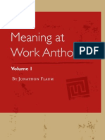 Meaning at Work, Vol. I