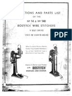 Bostich 14 and 14B Frame Manual