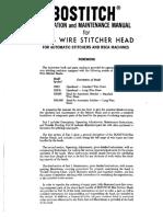 Bliss Wire Stitcher Head Manual
