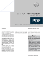 2013 Pathfinder Owner Manual