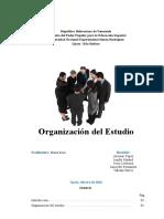 Organizacion Del Estudio