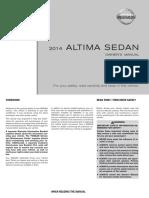 2014 Altima Owner Manual