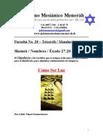 Parasha No.20 Tetzaveh Como Ser Luz